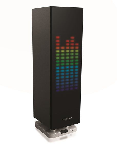 Sharper Image Sbt1003bk Bluetooth Mini Tower With Led Lights