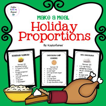 Students are given scenarios and will have to use proportions to make a holiday meal!
