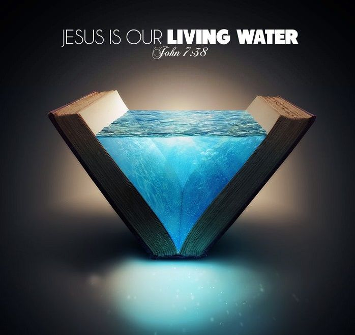 """faithful-in-christ: """"""""John 7:38 (HCSB) The one who believes in Me, as the Scripture has said, will have streams of living water flow from deep within him."""" """" """""""