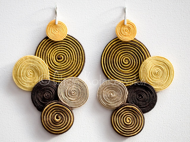 soutache earings without beads