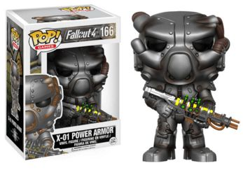 Fallout 4 X01 Power Armor Pop! Vinyl: The X01 Power Armor is given a fascinating stylized Pop! vinyl look! - Stands 3.75 inches tall - Packed in window display box - Pop! Games #166 Release: 02/17