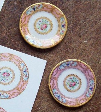 how to: making plates using decals I am going to make a similar idea!