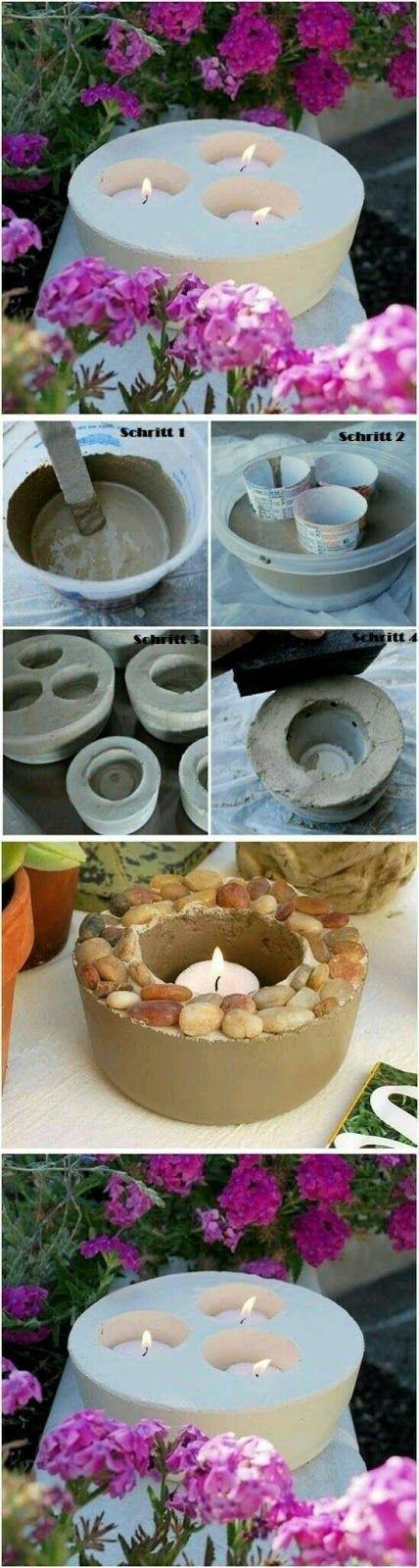 Usando cemento o concreto puedes hacer hermosos proyectos decorativos para tu casa o jardín. En esta ocasión te mostraremos como hacer port... #concretefurniture