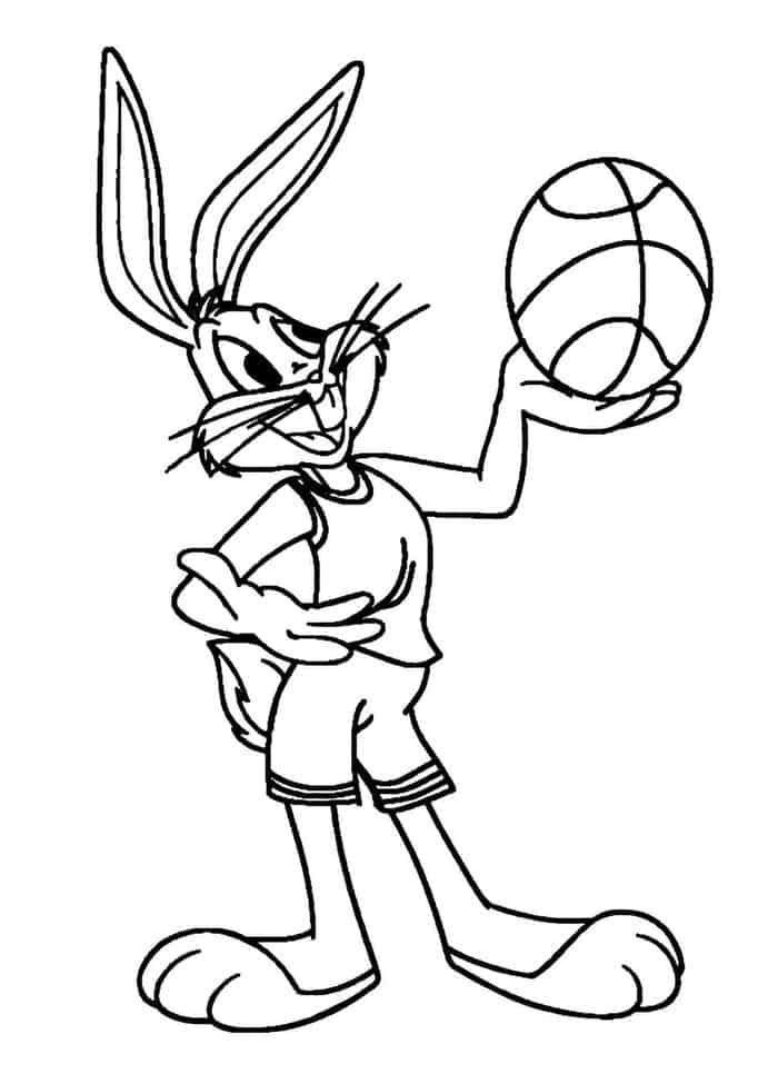 - Bugs Bunny Coloring Pages Basketball In 2020 Bunny Coloring Pages, Sports  Coloring Pages, Cool Coloring Pages