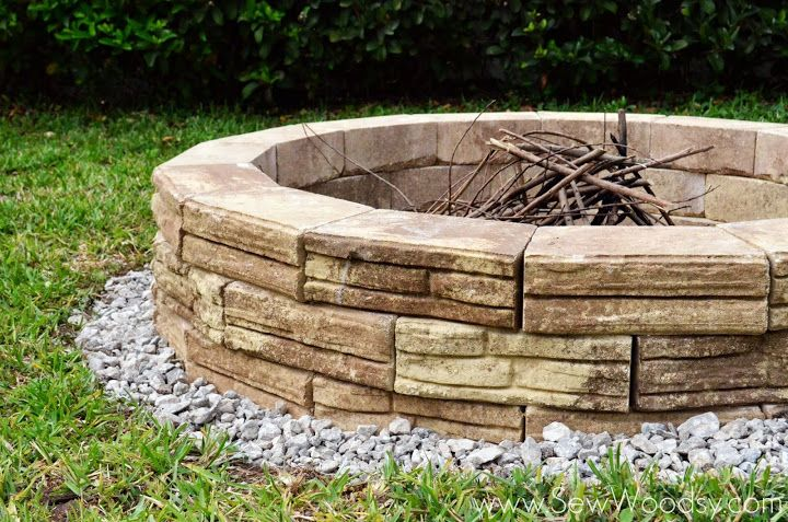 {How to Build} Outdoor Fire Pit via SewWoodsy.com for @Sarah Chintomby Kellam.com #diy #outdoor #video
