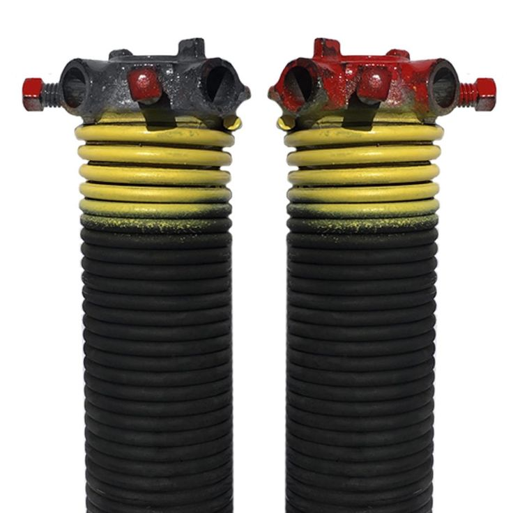 """DURA-LIFT .207 x 1.75"""" x 25"""" Torsion Garage Springs (Yellow, Left & Right Wound)"""