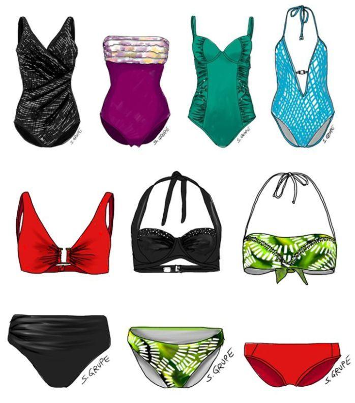Welche Badeanzüge und Bikinis stehen ihrem Figurtyp am besten? Mit diesem Fragen-Katalog finden Sie es heraus.