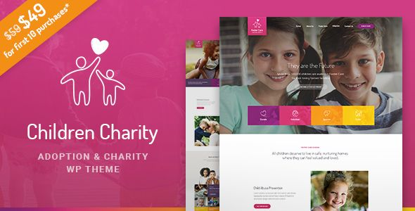 Children Charity - Nonprofit & NGO WordPress Theme with Donations (Charity)  https://themeforest.net/item/children-charity-nonprofit-ngo-wordpress-theme-with-donations/20208839