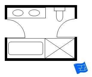 Double Sink Bathroom Floor Plans 10 best jack and jill bathroom floor plans images on pinterest