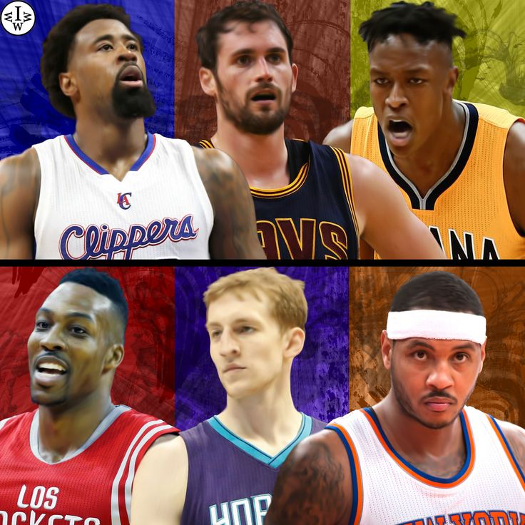 DeAndre Jordan, Kevin Love, and Myles Turner VS Dwight Howard, Cody Zeller, and Carmelo Anthony.  Who Would Win It?