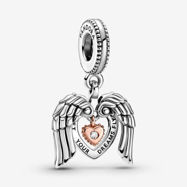 Pandora Club 2021 Angel Wings & Heart Dangle Charm in 2021 | Man ...