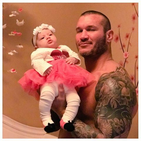 Randy Orton and his two month old daughter Brooklyn Rose #WWE #RKO #wwefamilies #wwekids #ortonlegacy