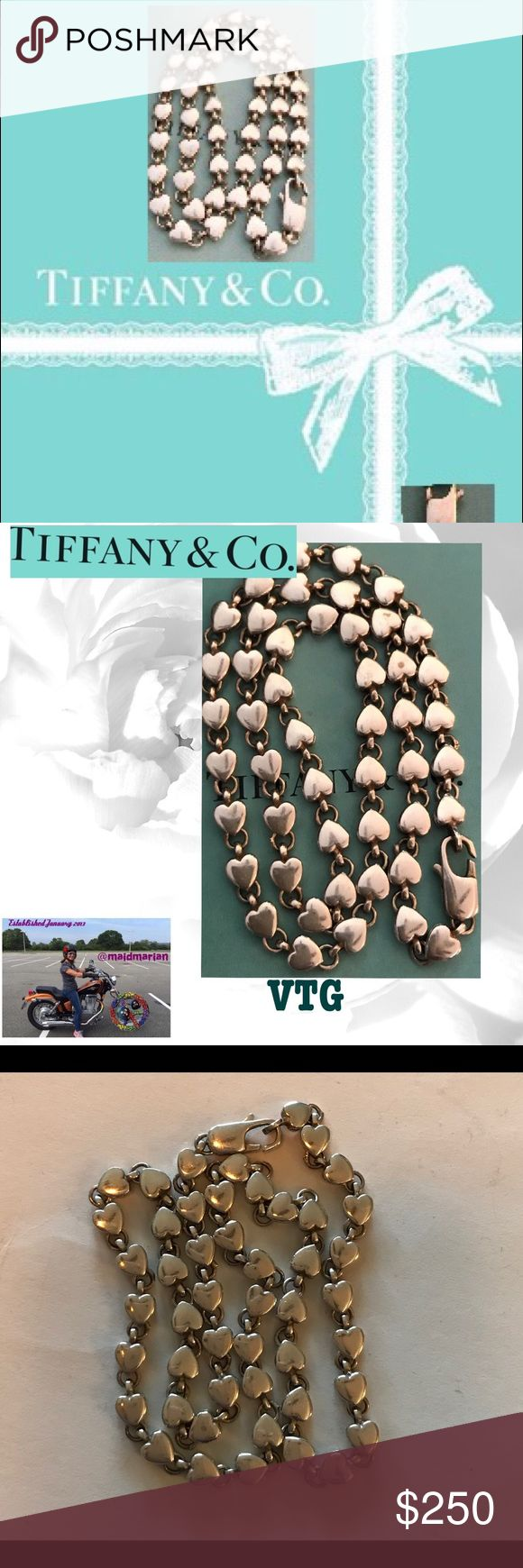 "💯AUTHENTIC RETIRED TIFFANY HEART NECKLACE This is a retired Tiffany's necklace I used to have matching bracelet but it's MIA. 16"". Marked T. Co. Hard to find! Any questions please ask! 🚫Trades. Offers welcome and remember to bundle for additional savings! Tx for browsing! Marian🌹 Tiffany & Co. Jewelry Necklaces"