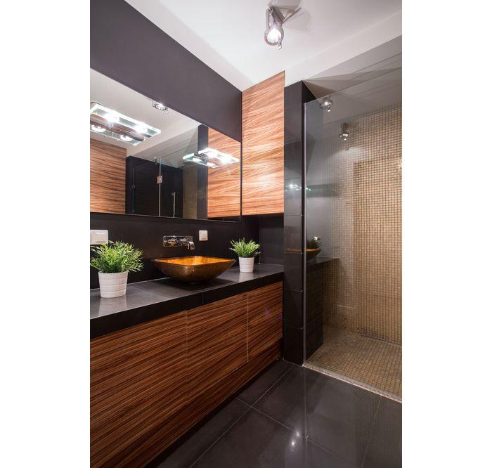 Nowoczesna Lazienka W Modnym Drewnie Leroy Merlin Mozaika Tonic 30 X 30 Artens Lighted Bathroom Mirror Bathroom Lighting Bathroom Mirror