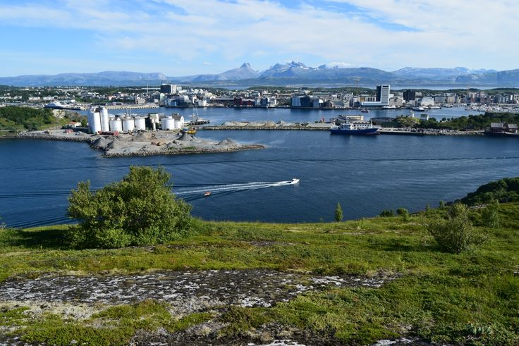 View towards the city of Bodø in Northern Norway