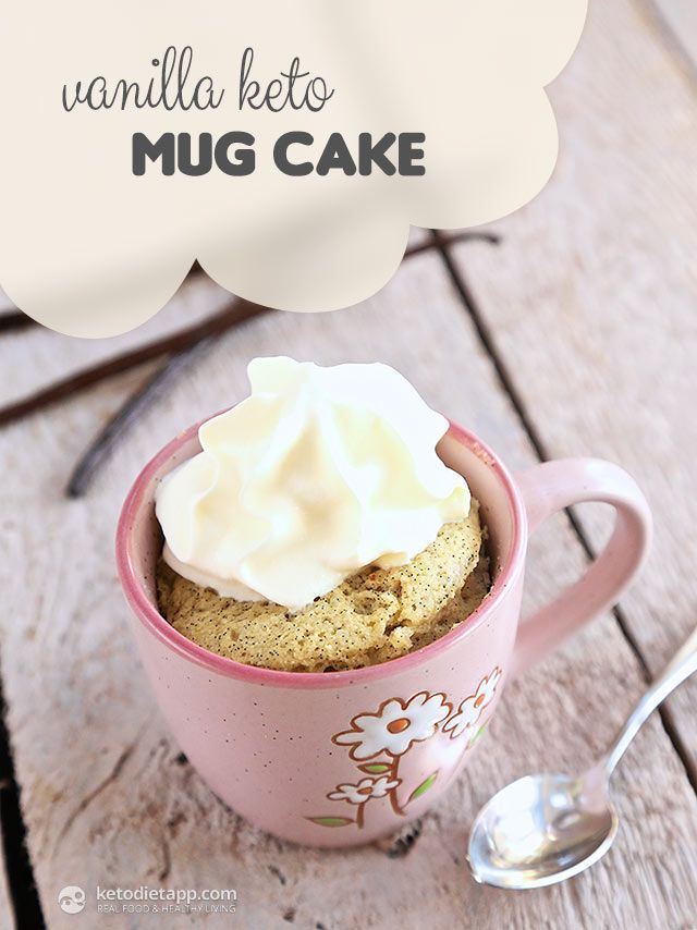 Vanilla Keto Mug Cake (easy low-carb and paleo treat)