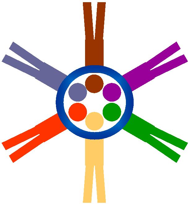people in a circle logo
