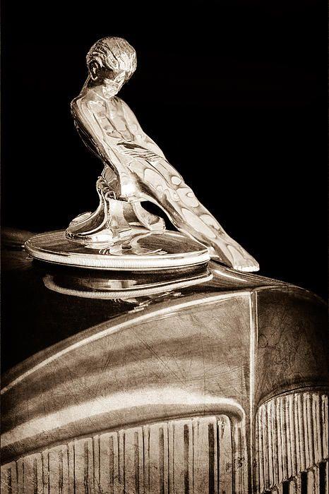 1934 Packard Hood Ornament by Jill Reger