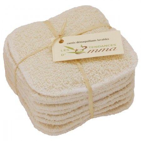 Lot de 10 carrés démaquillants lavables - Coton bio- Biface- 17,50€