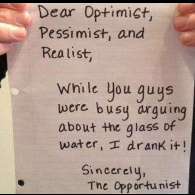 Watch out for opportunists!