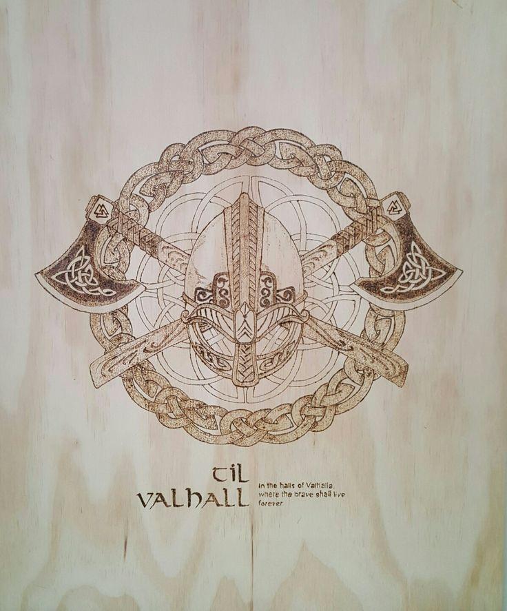 Vikings pyrography by hady al hayek
