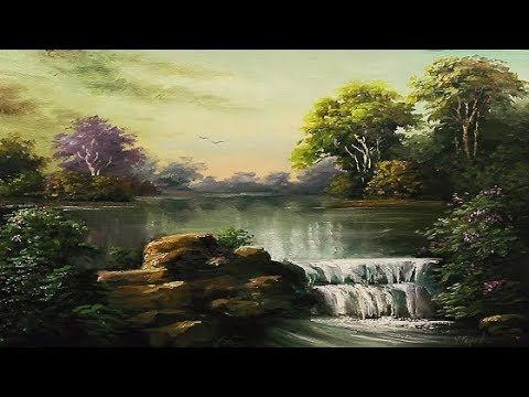 Oil Painting Landscape With Waterfall By Yasser Fayad Youtube Landscape Paintings Waterfall Art Landscape