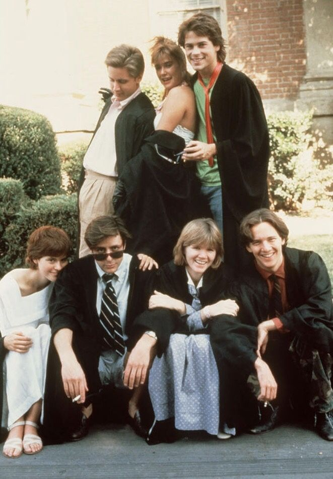 "The ""Brat Pack"" in the movie ""St. Elmos Fire"" (1985) 80s aesthetic : Photo"