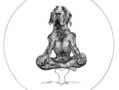 """Guru Hound"" illustration-  Gallery Quality Giclée Fine Art Print"