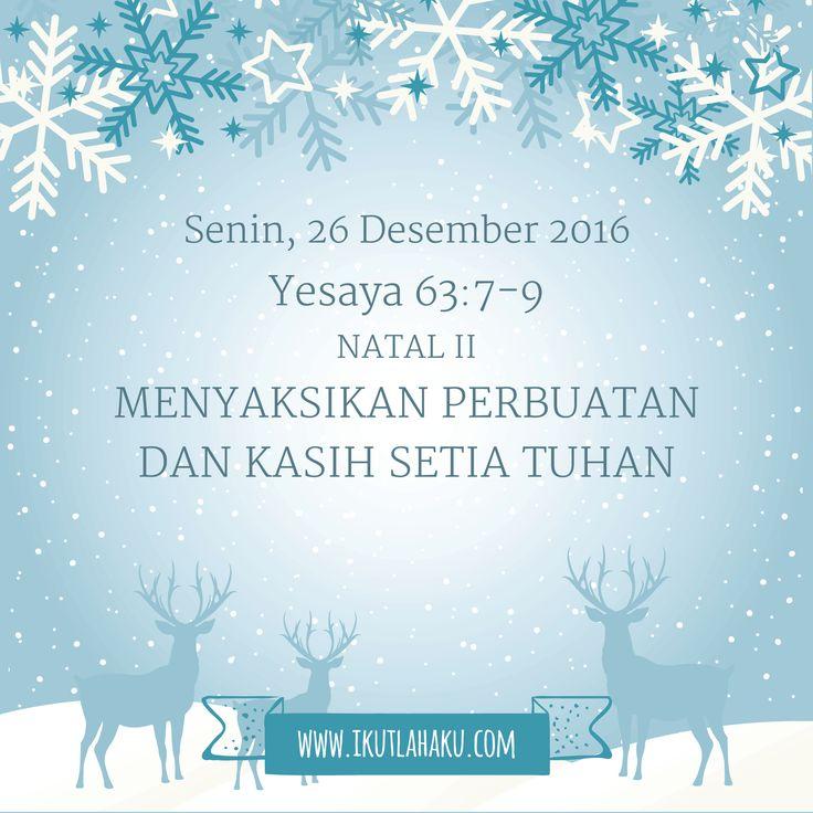 Renungan Hari Senin 26 Desember 2016