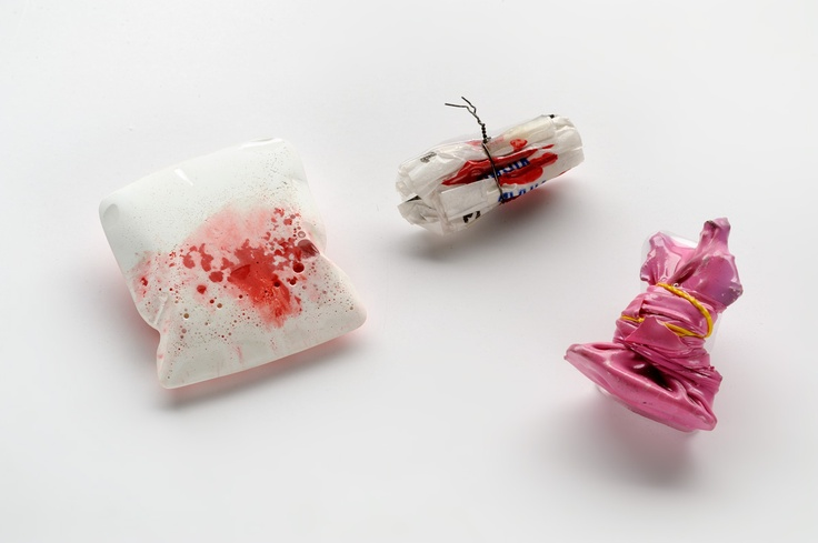 """"""" You, me and them"""" / brooches / silver 925, iron, paper, wax, 18 Kt Gold, resin with natural pigments and rubber / 2010 / unique pieces."""