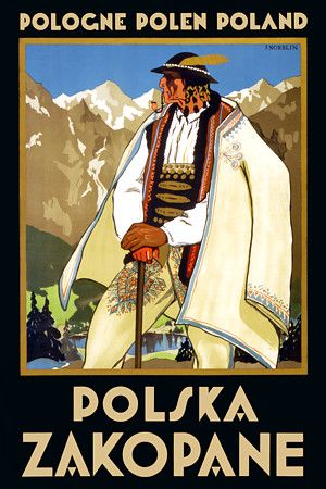 Pologne Polen Poland Polska: Zakopane. by Norblin http://www.vintagevenus.com.au/vintage/reprints/travel/TV195.jpg