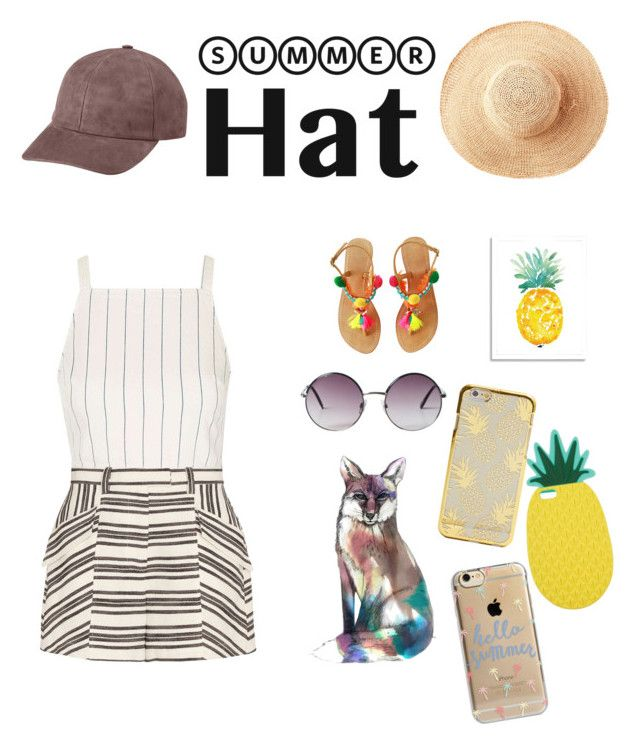 """Untitled #12"" by nastja-pessi on Polyvore featuring Toast, Vianel, Topshop, A.L.C., West Elm, Miss Selfridge, Agent 18, Monki and summerhat"