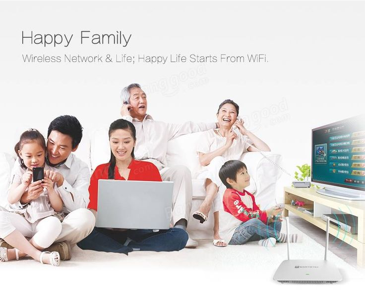 MantisTek® WR500 2.4G 300Mbps 802.11 b/g/n Ethernet Wireless WIFI Router Sale - Banggood.com