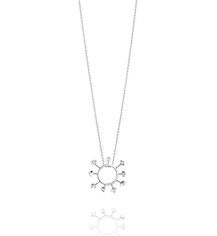 Here Comes The Sun Necklace - Silver - Halsband - Efva Attling