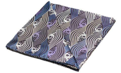 YUKI Printed Silk Pocket Square #pocketsquare #pocket #square #handkerchief #silkhandkerchief #silksquare #silkpocketsquare #pocketsquares #handkerchiefs #madeinengland #wedding #groom #groomswear #weddingideas #idea #grooms #style #weddingstyle #outfit #inspiration #weddingguest #guest #usher #ushers #buybritish #accessories #dapper #gentleman #cravatclub #blue #white #japanese #waves