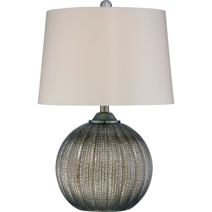 """Quoizel Q2316T Signature 1 Light 23"""" Tall Accent Table Lamp with Fabric Drum Sha Brown Lamps Table Lamps Accent Lamps"""