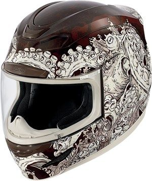 Icon Airmada Colossal Full Face Motorcycle Helmet - Brown - See more at: http://www.bikerperformance.com/icon-airmada-colossal-full-face-motorcycle-helmet-brown-p14210.html
