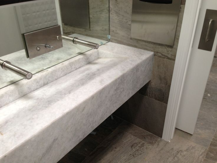 Maleny Community Centre - Calcite White Natural Stone bench/sink