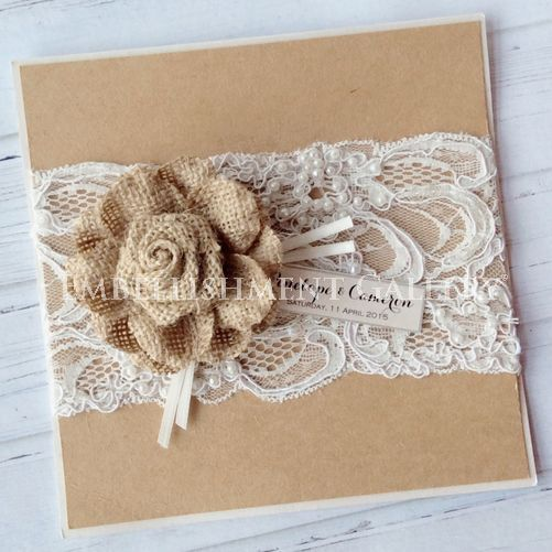 Burlap flower and lace by Embellishment Gallery® AUSTRALIA
