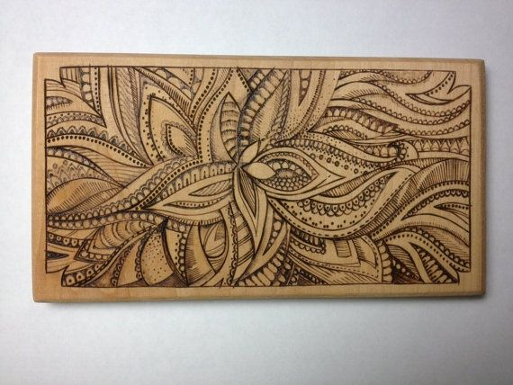 Spacious Wooden Flower Wood Burning Pyrography