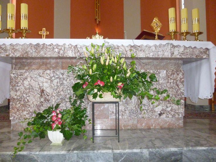 Letnia dekoracja ołtarza