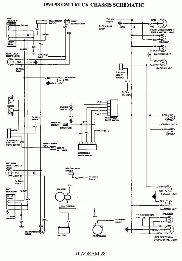 17 94 Gmc Truck Data Link Connector Wiring Diagram Truck