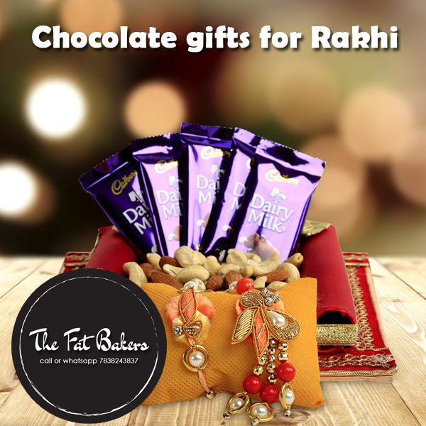 Buy Online #Chocolatespacked in beautiful gift box exclusively designed for #Rakshabandhan The Fat Bakers Presents #RakshaBandhan Gifts sets for brother and sister love more special with this perfectly delicious #chocolate packed aptly for the #occasion. Order today Call or WhatsApp +91-7838243837 #rakhi #love #india #sister #festival #brother #happy #indian #gifts #brothers #fun #bond #celebration #picoftheday #delhi #happyrakshabandhan #indianfestiva #brothersisterlove #happiness