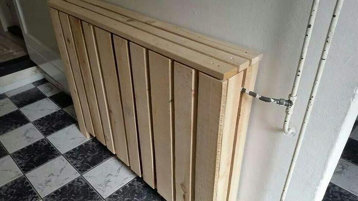 Radiatorombouw pallethout. https://m.facebook.com/henkdecor