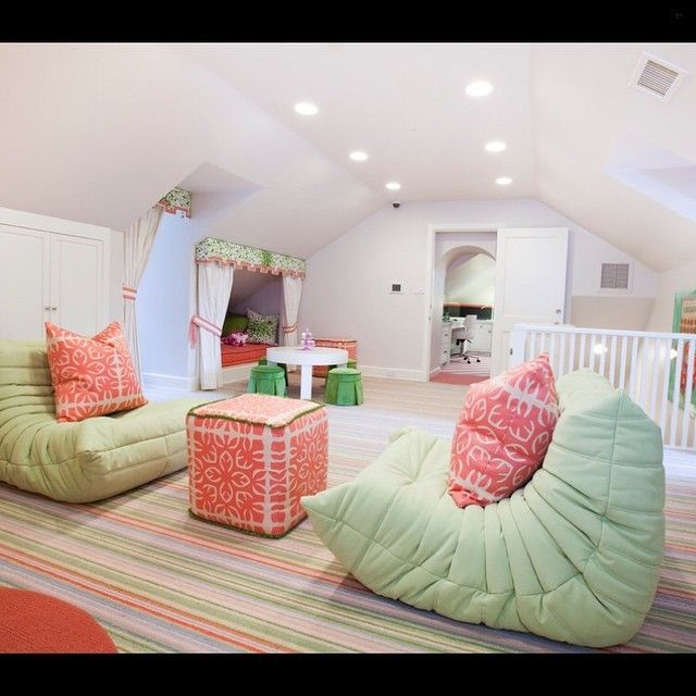 What a gorgeous space designed by Laura  U inc. And how about those super comfy  lounge chairs?!! They can be found at @lignerosetsf, make sure to check them out to see more of their great products!... - Home Decor For Kids And Interior Design Ideas for Children, Toddler Room Ideas For Boys And Girls