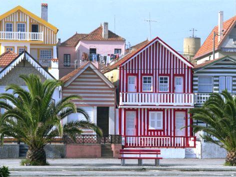 Completely Coastal Decorating Blog: The Striped Beach Houses of Costa Nova