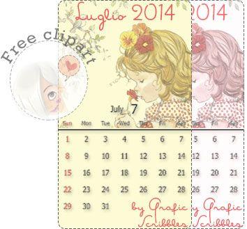 Calendario mese di Luglio, Free Download...perchyè mi sono accorta che c'è chi... http://graficscribbles.blogspot.it/2014/07/calendario-mese-di-luglio-free-download.html