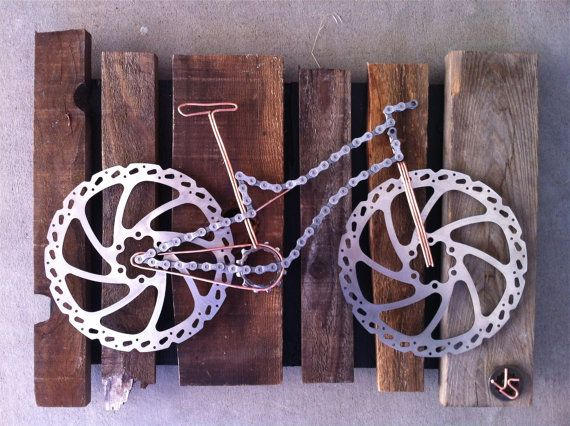 Bicycle wall sculpture that is too cool