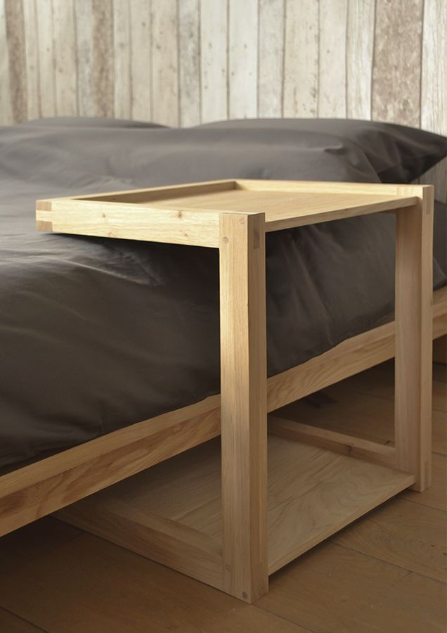 The Ethnicraft Oak Frame Side Table A Stylish Side Table In Solid Oak Buy Online From Natural Bed Company Part Of The Solid Oak Furniture Collection