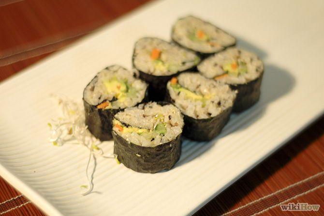 Sushi Vegano de Arroz Integral